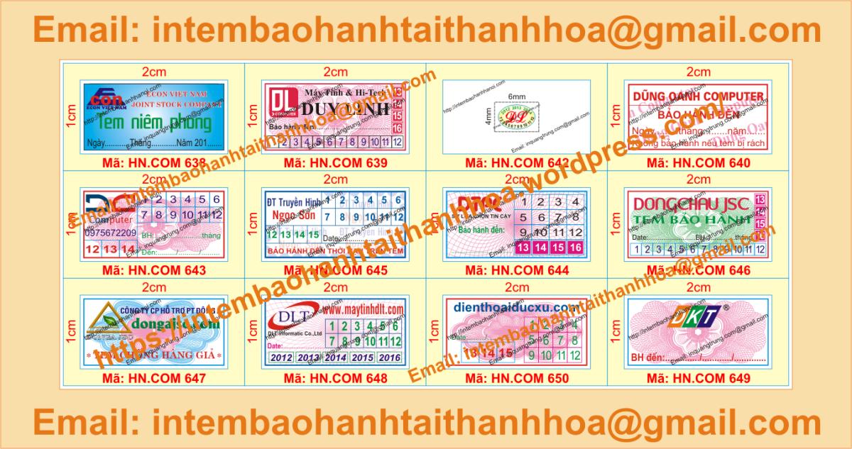 In tem bể giá rẻ tại ThanhHóa