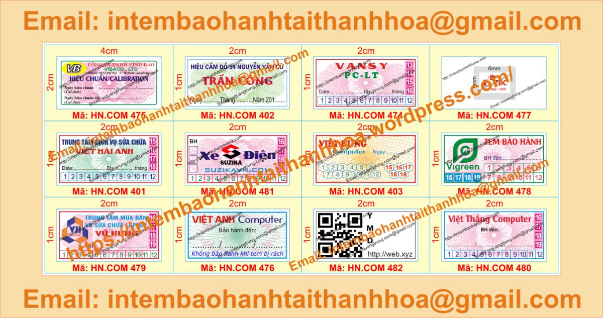 In tem vỡ bảo hành chất lượng cao giá rẻ tại ThanhHóa
