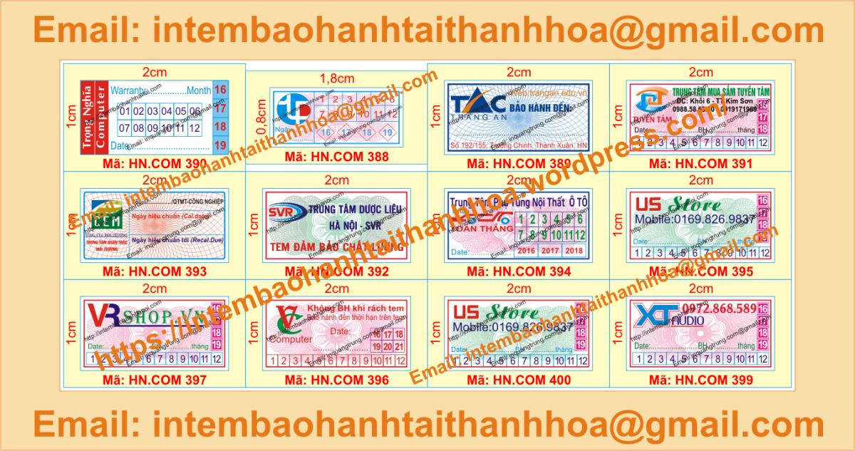 In tem vỡ bảo hành chất lượng cao giá tốt tại ThanhHóa