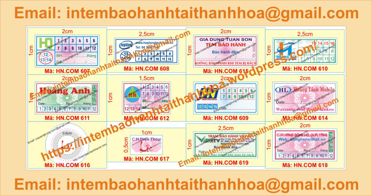 In tem vỡ bảo hành giá cạnh tranh tại ThanhHóa