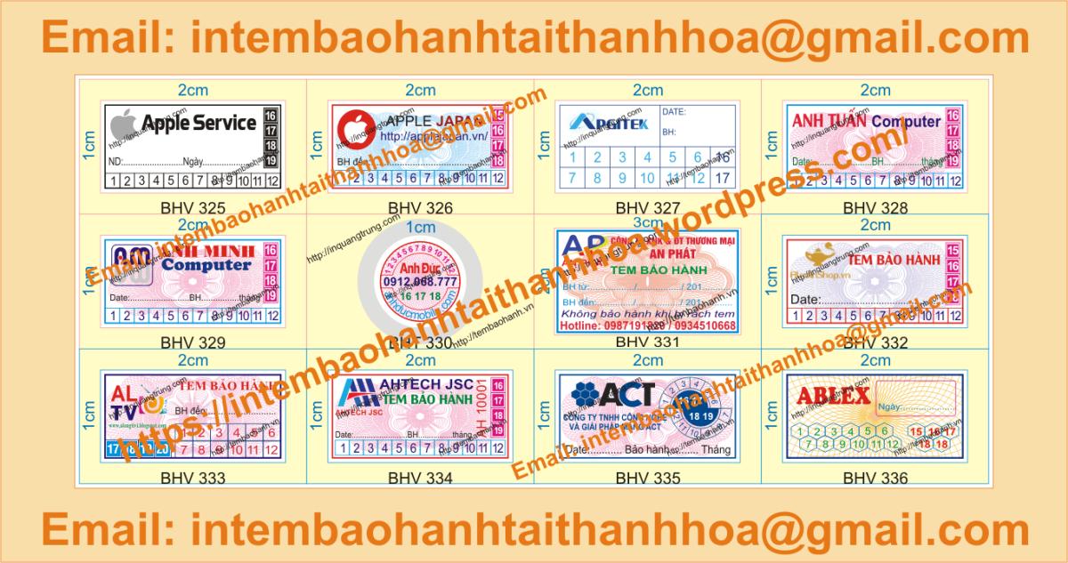 In tem vỡ bảo hành giá rẻ tại ThanhHóa
