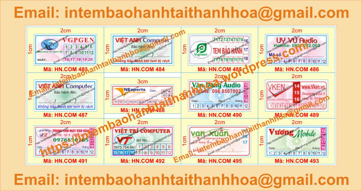 In tem vỡ giá cạnh tranh tại ThanhHóa