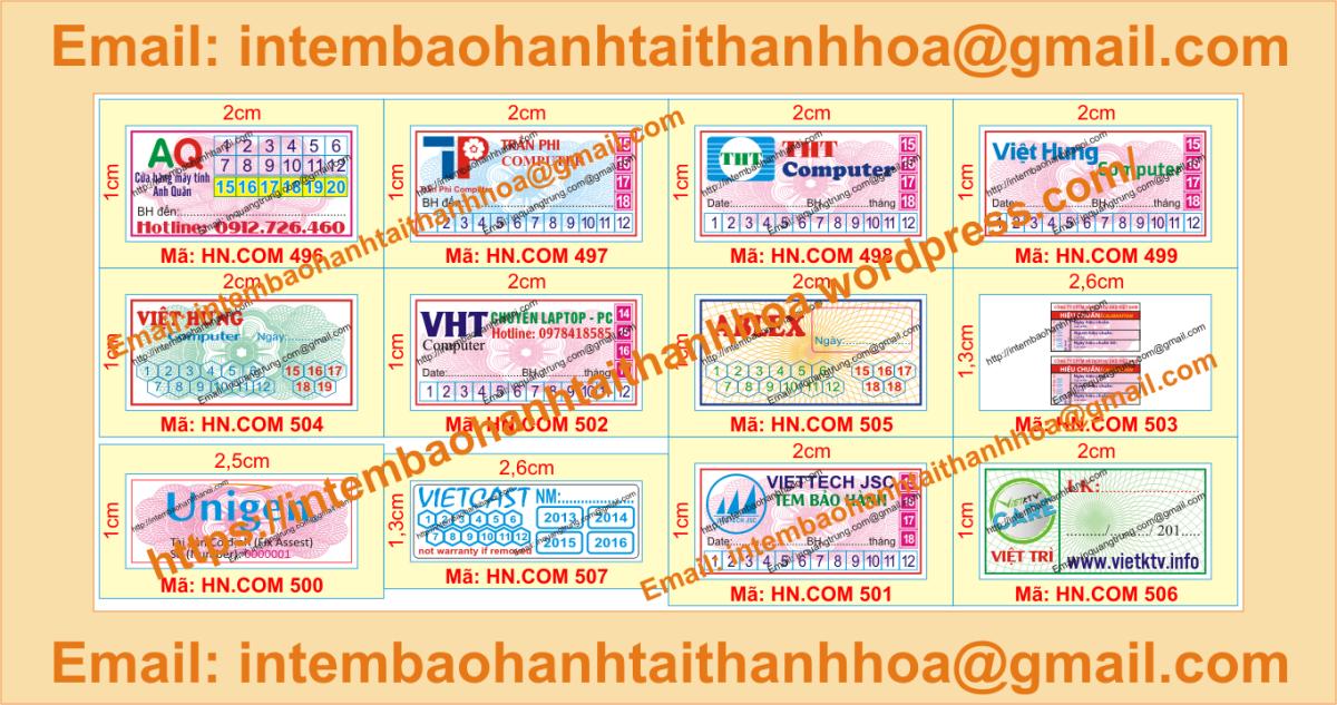 In tem vỡ giá rẻ chất lượng cao tại ThanhHóa