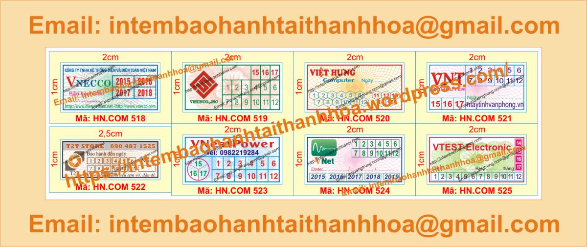 In tem bảo hành giá cạnh tranh tại ThanhHóa