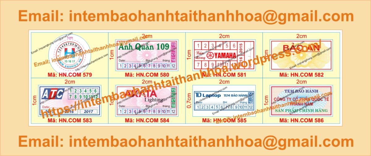 In tem bảo hành giá rẻ chất lượng cao tại ThanhHóa