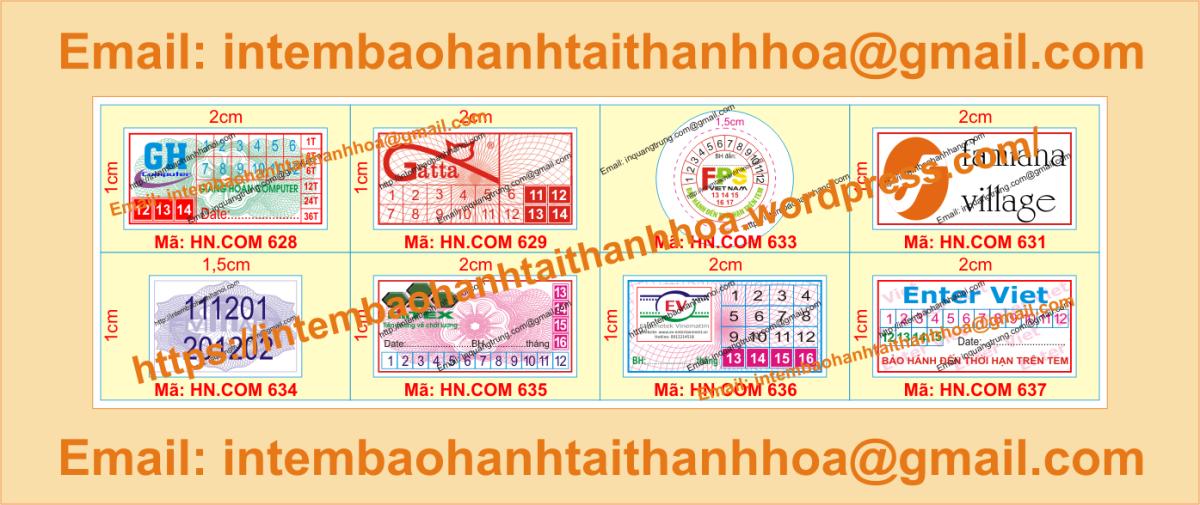 In tem bảo hành giá tốt tại ThanhHóa