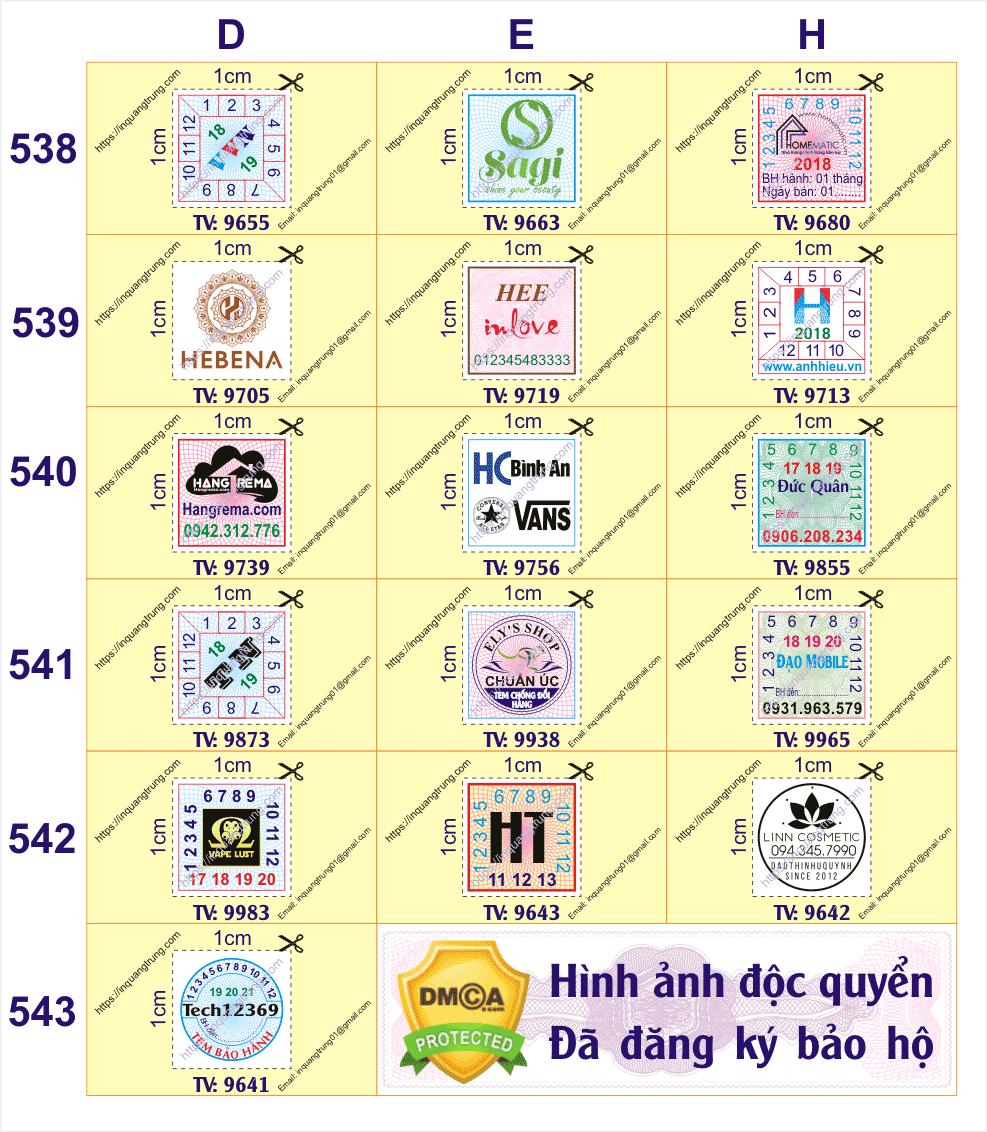 Nhận in tem bảo hành ở Tỉnh Thanh Hóa giá chỉ từ115đ/cái